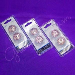(6pcs)MAINSTAYS Retro Acrylic Pink Crystal Knobs
